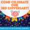 Join us October 26th to celebrate our 3rd Ejjiversary!
