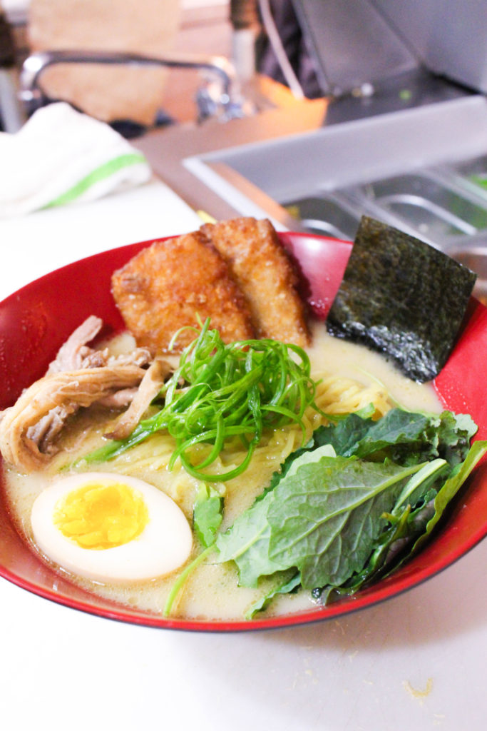 Our most popular bowl - the Tonkatsu ramen.